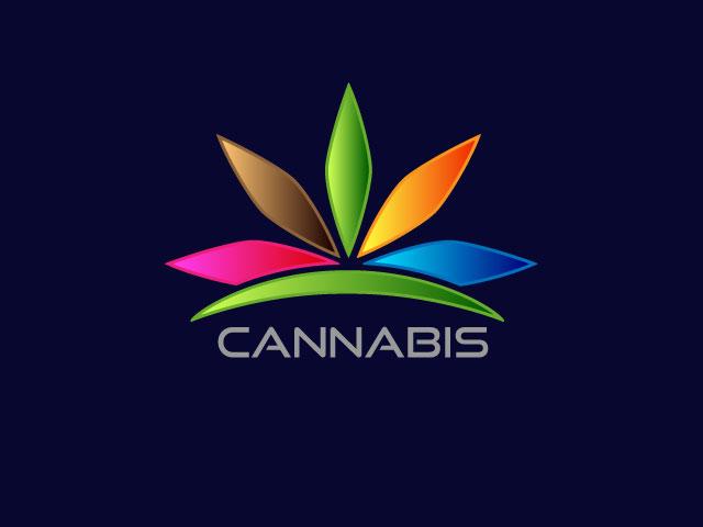 Marijuana cannabis ganja vector logo design