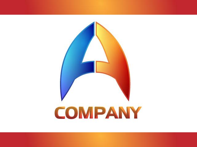 Letter A Modern 3D Logo Design Idea